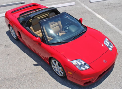 2005 Acura NSX in New Formula Red over Tan