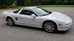 1997 Acura NSX in Grand Prix White over Black