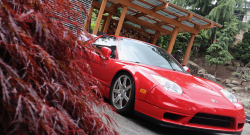 2003 Acura NSX in New Formula Red over Tan