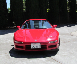 2001 Acura NSX in New Formula Red over Black
