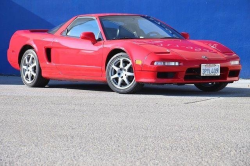 1996 Acura NSX in Formula Red over Black