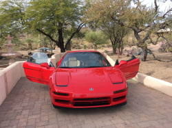 1993 Acura NSX in Formula Red over Tan