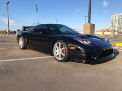 2002 Acura NSX in Berlina Black over Red
