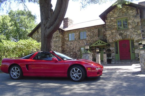 1995 Acura NSX in Formula Red over Black