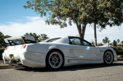 1991 Acura NSX in Grand Prix White over Black