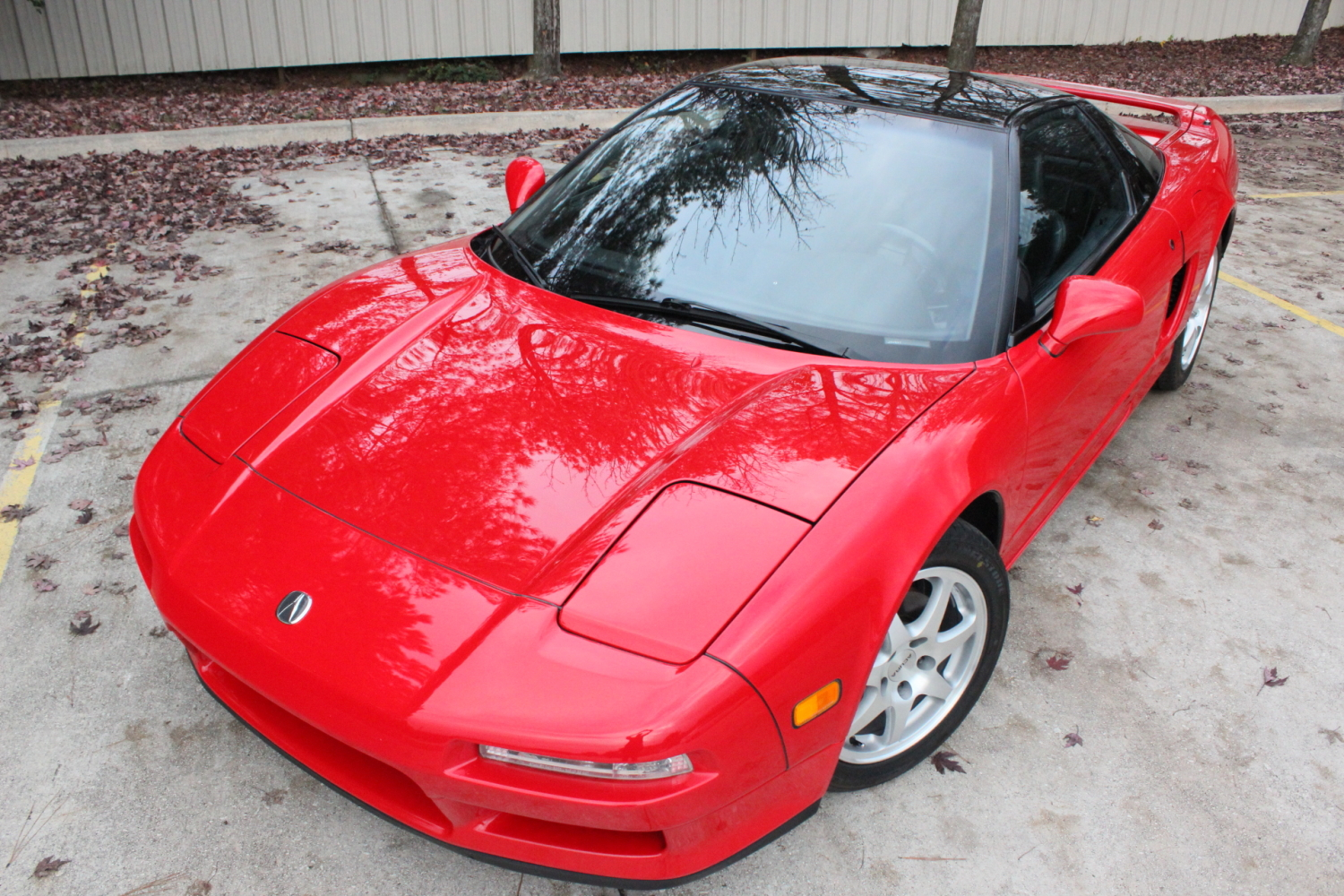 1992 Acura NSX in Formula Red over Black