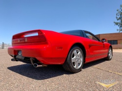 1991 Acura NSX in Formula Red over Ivory